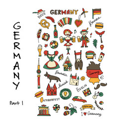 Germany icons set sketch for your design vector