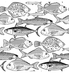 Graphic fish pattern vector