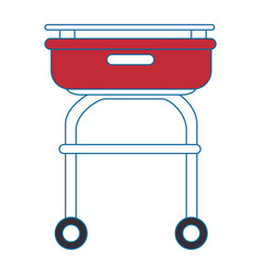 Grill cook cartoon vector
