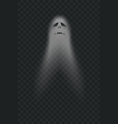 Halloween scary ghostly monster poltergeist or vector