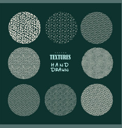 Hand drawn textures and brushes artistic vector