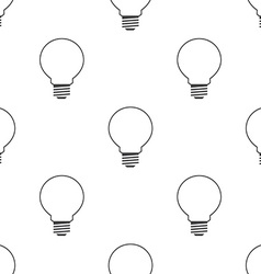idea symbol seamless pattern vector image