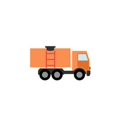 Isolated truck flat icon van element can vector