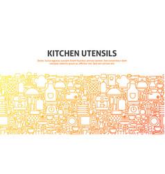 kitchen utensils concept vector image