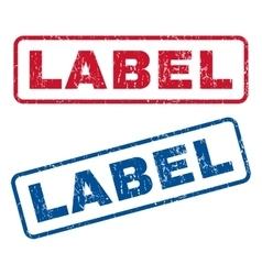 Label rubber stamps vector