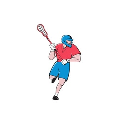 Lacrosse Player Crosse Stick Running Isolated vector image