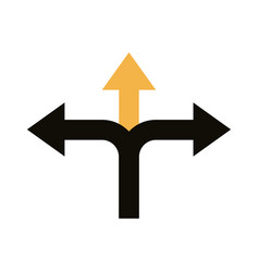 Left and right arrows navigations guide line style vector