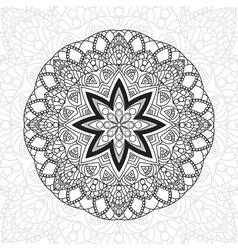 Mandala highly detailed zentangle ethnic tribal vector