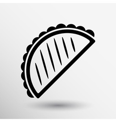 Mexican fast food logo design template tacos icon vector