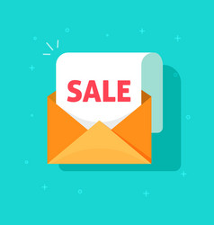 Newsletter email sale promotion open vector