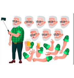 Old man senior person aged elderly vector