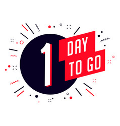 One day to go no of days left to go badges vector