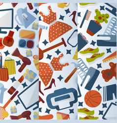 online shopping background patterns vector image