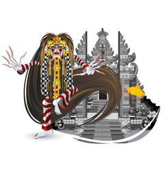 Rangda leak traditional bali dance vector