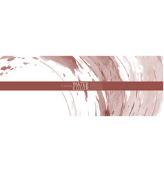 Red earth tone watercolor splash background vector