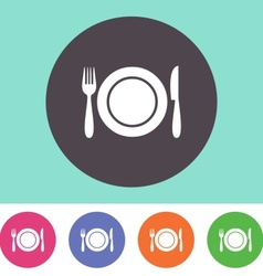 Restaurant menu icon vector