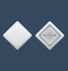 Rhombic badge mockup realistic style vector