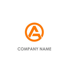 Round a initial triangle logo vector