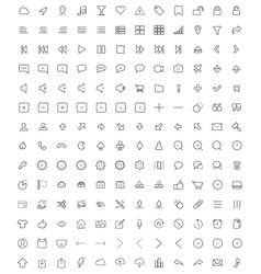 Set universal icons 3 vector