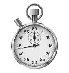 simple classic stop watch isolated on white vector image