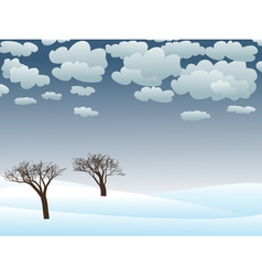 snowy winter landscape vector image