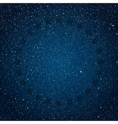 Stars ircle Starry Dark Blue Sky in Stars vector