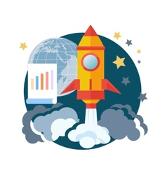 Start Up Rocket vector image vector image
