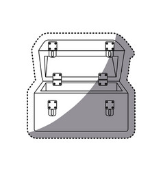 Sticker silhouette shading tool box vector