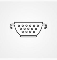 strainer icon sign symbol vector image