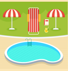 summer swimming pool vector image