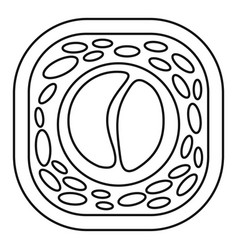 Tai sushi icon outline style vector