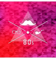 Triangle retro hipster background vector