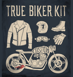 true biker kit vector image vector image