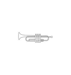trumpet flat icon vector image