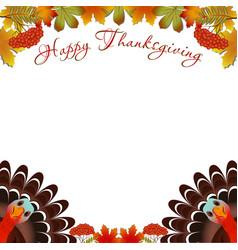 Turkey bird for happy thanksgiving celebration vector