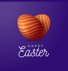 two easter eggs ornament lie in shape vector image
