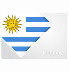 Uruguayan flag design background vector