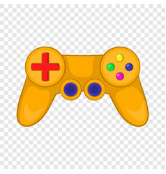 Video game controller icon in cartoon style vector