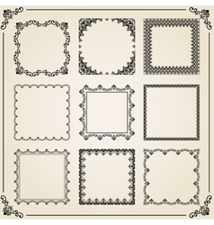 Vintage Set of Square Elements vector