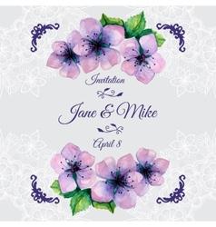 watercolor elegant wedding invitation vector image