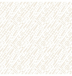 White pattern with random brushstrokes and dots vector image