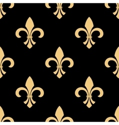 Yellow and black fleur-de-lis pattern vector image