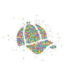 abstract baseball cap vector image
