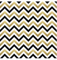 chevron seamless pattern black gold zigzag vector image vector image