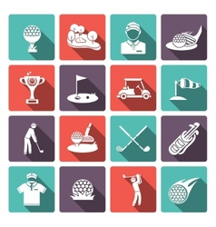 Golf icons set vector