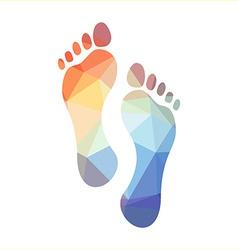 Polygonal Footprints vector image