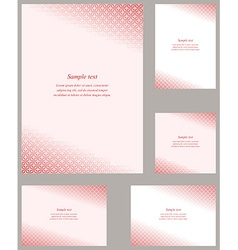 Red gothic pattern page corner template set vector image vector image