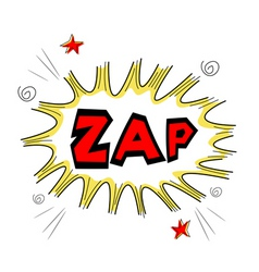 zap text vector image vector image