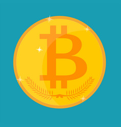 bitcoin icon isolated on a background vector image