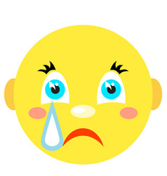 smiley cries icons on a white background vector image vector image